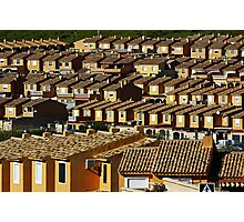 Suburbian houses in rows Photographic Print