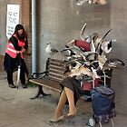 Dismaland - Woman Being Attacked By Birds by LooseImages