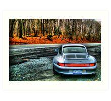 Porsche 993 C4S HDR Art Print