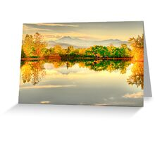 Reflections On Golden Ponds Greeting Card