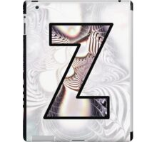 Fractal – Alphabet –  Z is for Zebra Colors iPad Case/Skin