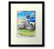 Cemetery Chapel of St Odilo in Zirec Framed Print