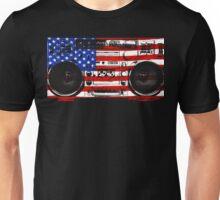 Old School Boombox Flag Art Unisex T-Shirt
