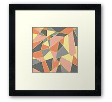 Fall Colors Geometric with Faux Gold Outline Framed Print