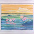 Spoonbills by Suzi Linden