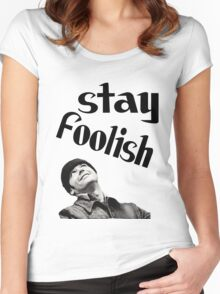 STAY FOOLISH H++ CLOTHING Women's Fitted Scoop T-Shirt