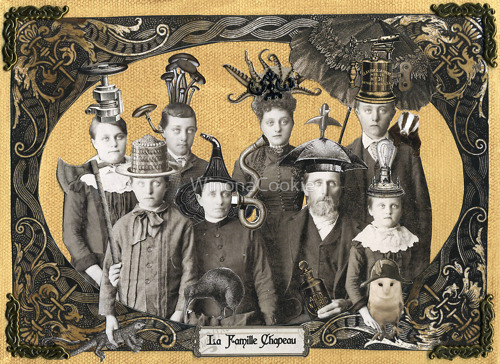 La Famille Chapeau - Portrait of an Odd Family by WinonaCookie