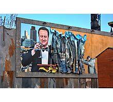 Dismaland - 'Shove' - Cameron Billboard Photographic Print