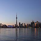Dusk Setting On Toronto Skyline by NewfieKeith