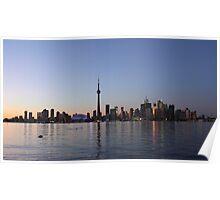Dusk Setting On Toronto Skyline Poster