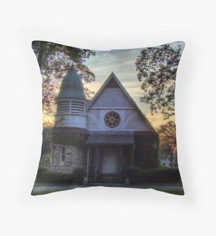 Laurel Hill Chapel Throw Pillow