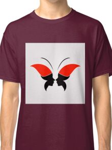 Face forming a butterfly Classic T-Shirt