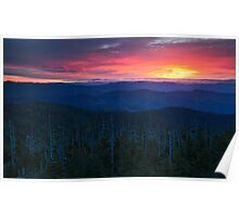 Dawn's End (Original) - Clingman's Dome, Great Smoky Mountains National Park Poster