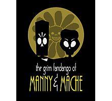 THE GRIM FANDANGO OF MANNY & MACHE (BATMAN THE ANIMATED SERIES PARODY) Photographic Print
