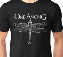 Dragonfly Among the Fence (White) Unisex T-Shirt
