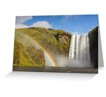 Skogafoss Falls, Iceland Greeting Card