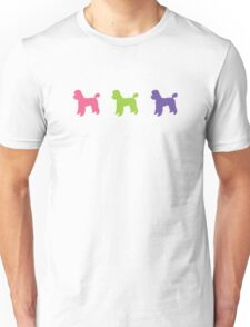 Poodle Colours Unisex T-Shirt