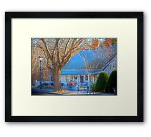 Bicycle Cafe, Hahndorf, Adelaide Hills Framed Print