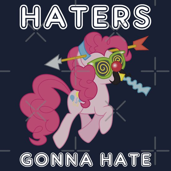 TShirtGifter presents: Pinkie Pie haters gonna hate with Text