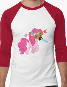 Pinkie Pie haters gonna hate with Text Men's Baseball ¾ T-Shirt