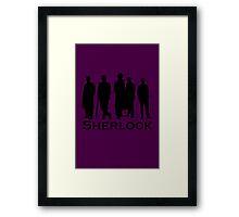 Sherlock Cast Silhouette Poster Framed Print