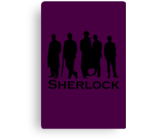 Sherlock Cast Silhouette Poster Canvas Print