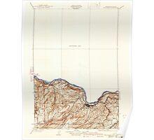 USGS Topo Map Washington The Dalles 282943 1934 125000 Poster