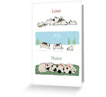 Keeshond Dogs Love Joy Peace Greeting Card