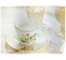 Vintage Cup and Saucer Poster