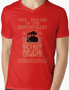 Hound of the Baskervilles Book Cover Mens V-Neck T-Shirt