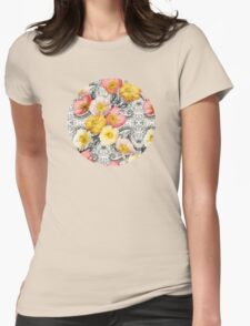 Collage of Poppies and Pattern T-Shirt