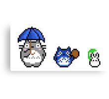 Totoro - pixel art Canvas Print