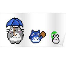 Totoro - pixel art Poster