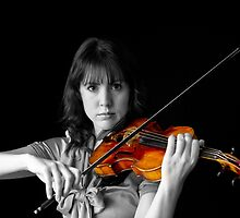 Violinist Playing a Colorful Melody by Mark Van Scyoc
