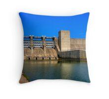 Deer Creek Lake Dam Throw Pillow