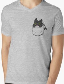 Pocket Toothless Mens V-Neck T-Shirt