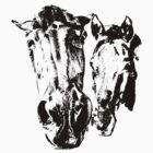 Two horses by Rostislav Bouda