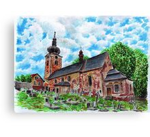 Church of St Anne in Stare Buky Canvas Print