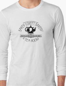 "BBC Sherlock ""Cream Tea"" Bakery & Tea Shop  Long Sleeve T-Shirt"