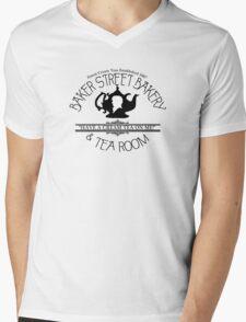 "BBC Sherlock ""Cream Tea"" Bakery & Tea Shop  Mens V-Neck T-Shirt"