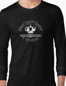 "BBC Sherlock ""Cream Tea"" Bakery & Tea Shop (Dark) Long Sleeve T-Shirt"