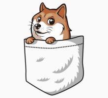 Doge Pocket (Pocket Doge T-Shirt) One Piece - Short Sleeve