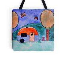 Extra Doodly Retro Camper Tote Bag