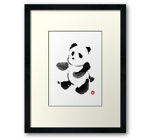 Ink Wash Panda Framed Print