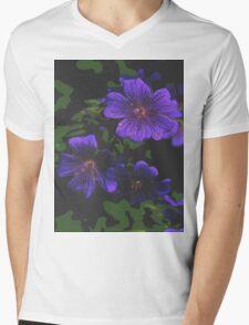 Purple flowers Mens V-Neck T-Shirt