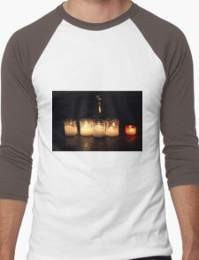 Candles in church Men's Baseball ¾ T-Shirt