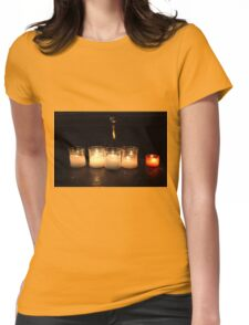 Candles in church Womens Fitted T-Shirt