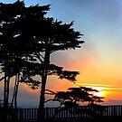 Golden Gate Bridge - Oceanside Sidewalk Sunset. 2011 by Igor Pozdnyakov