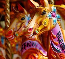 iphone case carousel horses by buttonpresser