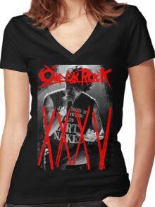 ONE OK ROCK! TAKA!! 35XXXV Women's Fitted V-Neck T-Shirt